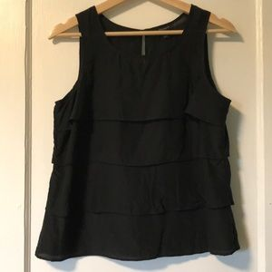 Ann Taylor silk blend black tank top